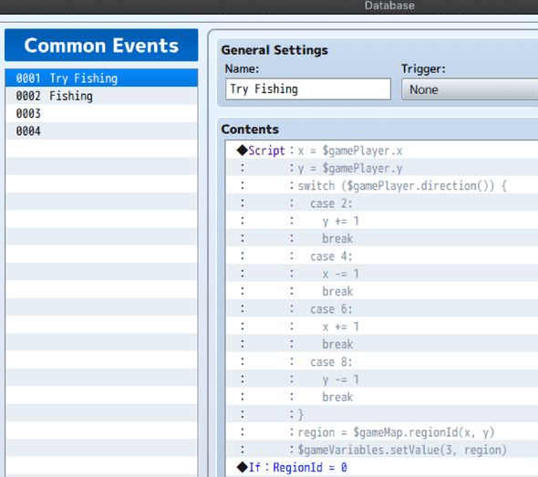 Fixed code in common events UI